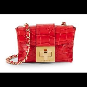 NEW VALENTINO Paulette Croco Embossed Leather $745